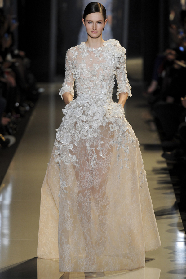 Passion for luxury elie saab haute couture spring 2013 for Elie saab wedding dress 2013