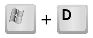Combinazione di tasti [Logo Windows]+D