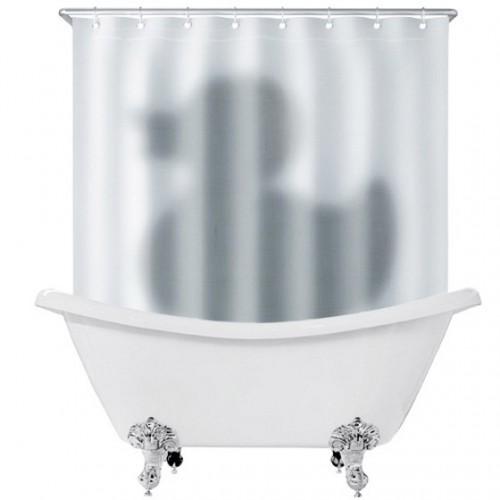 Cortinas De Baño Geek:Cortina de baño con sombra de un pato terrorífico