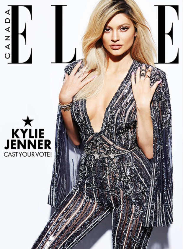 Kylie Jenner sparkles for Elle Canada December 2015