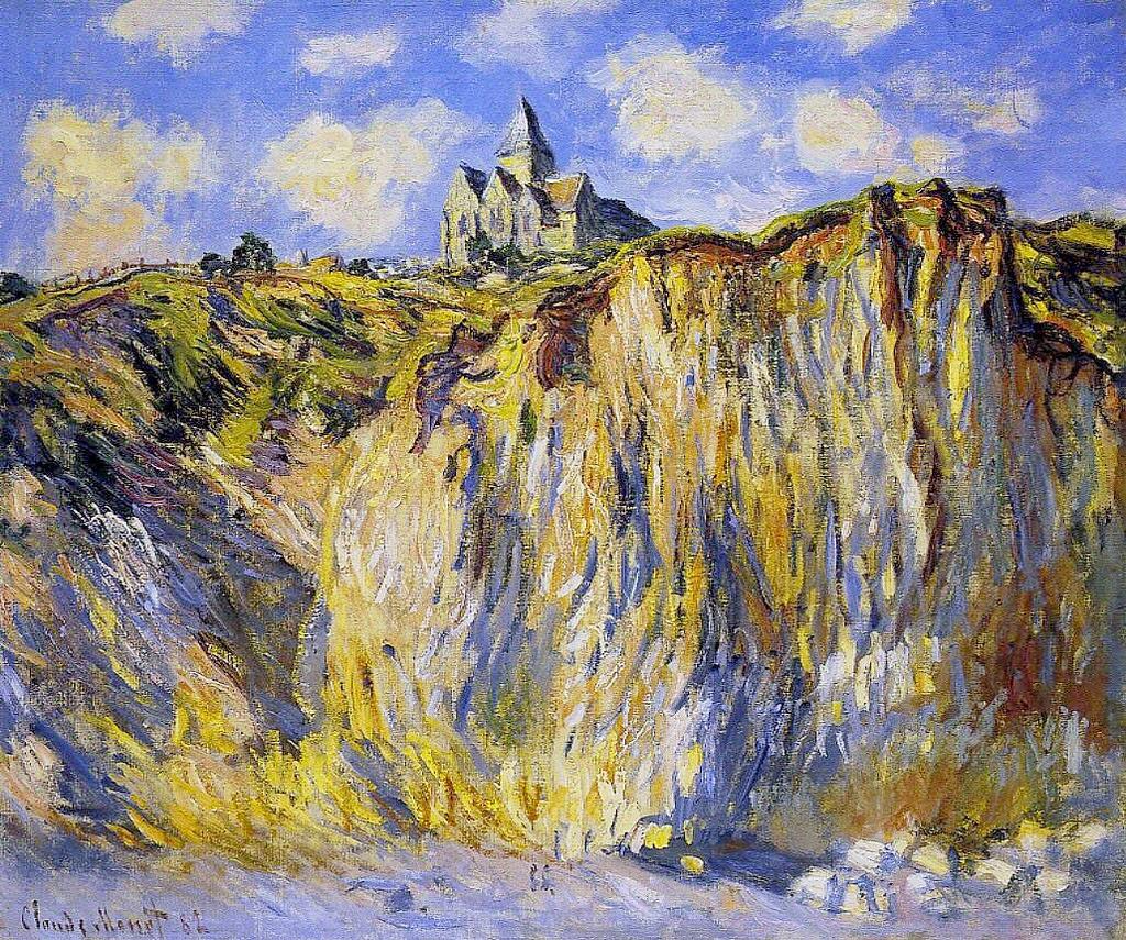 Église de Varengeville, effet du matin (Claude Monet, 1882)