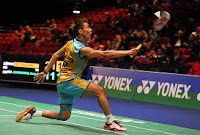 Pukulan backhand Lee Chong Wei