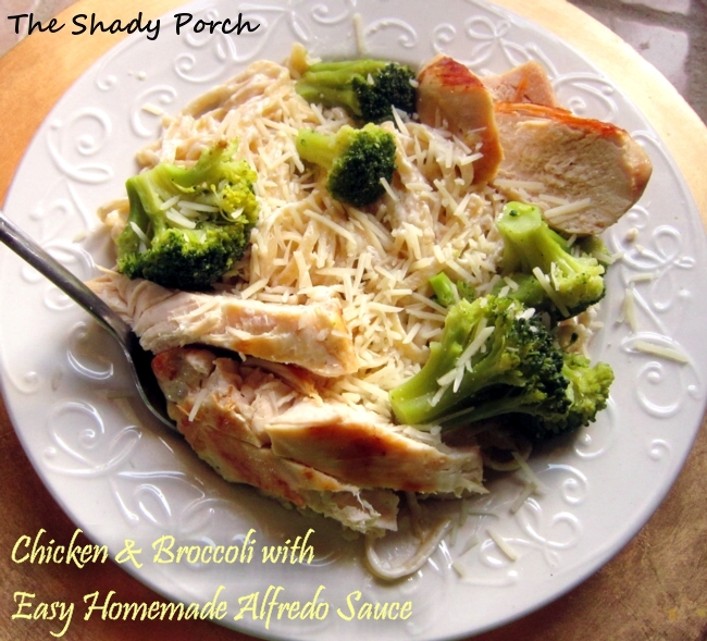 Chicken and Broccoli Alfredo  #homemade #alfredosauce #pasta #chicken #broccoli