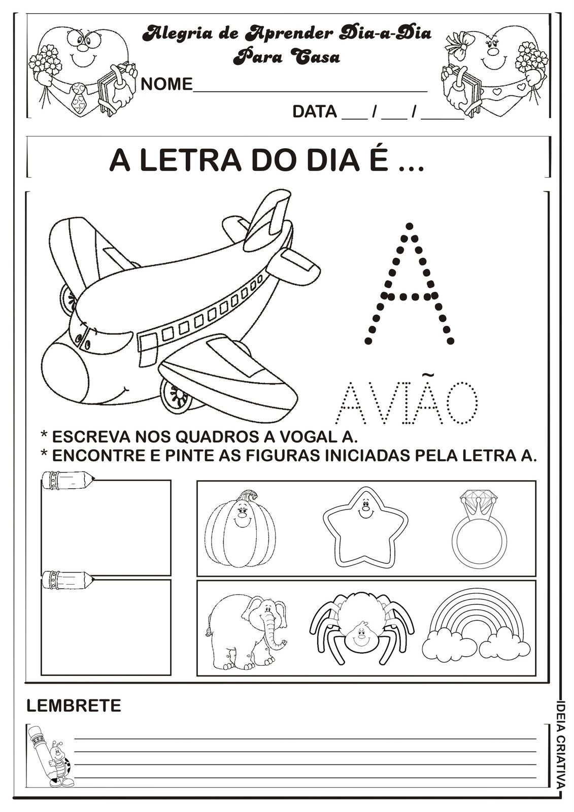 Populares Jardim da Tia Di♥: Atividades com as vogais - Ed. Infantil OH04