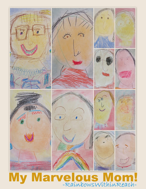 photo of: My Marvelous Mom: kindergarten drawings for Mother's Day