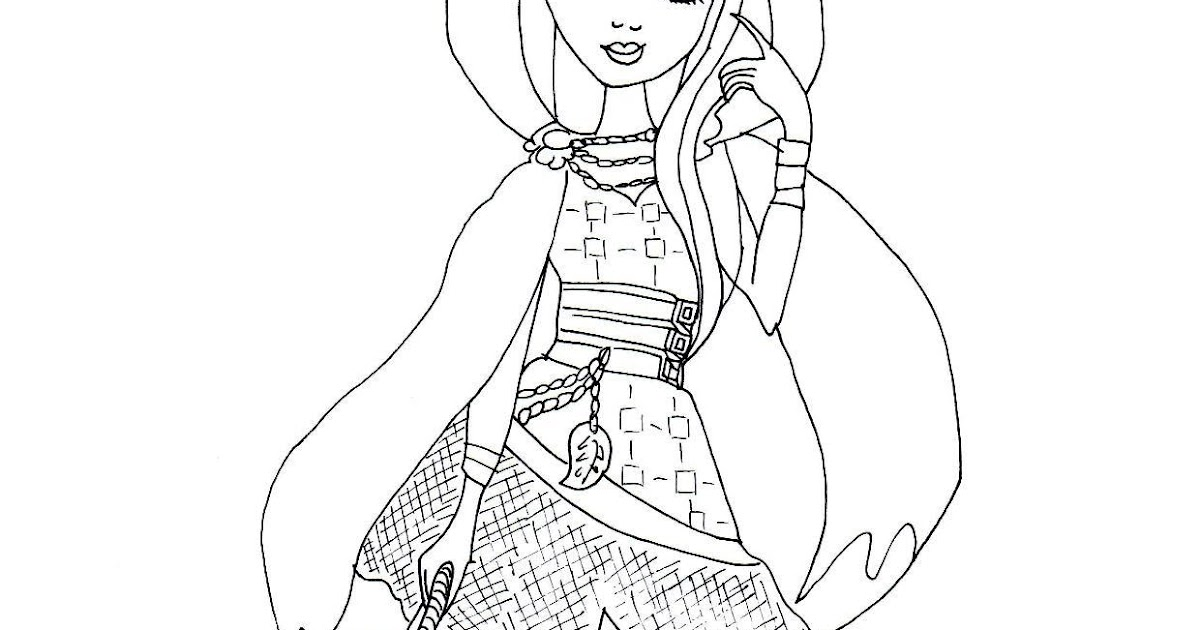 cerise hood ever after high coloring page free ever