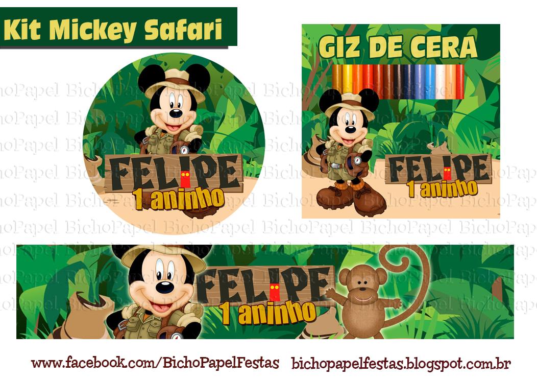 Kit Festa Safari mickey