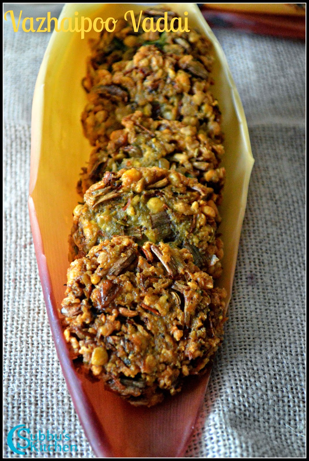 Vazhaipoo Vadai Recipe | Bannana blossom vadai