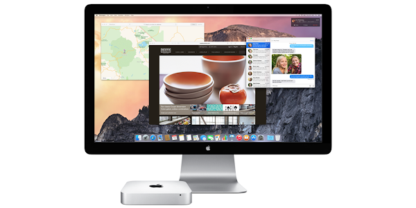Apple Mac mini with Apple display