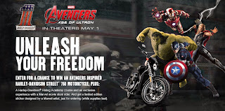 Marvel's Avengers Motorcycle sweeps and sticker at Harley-Davidson