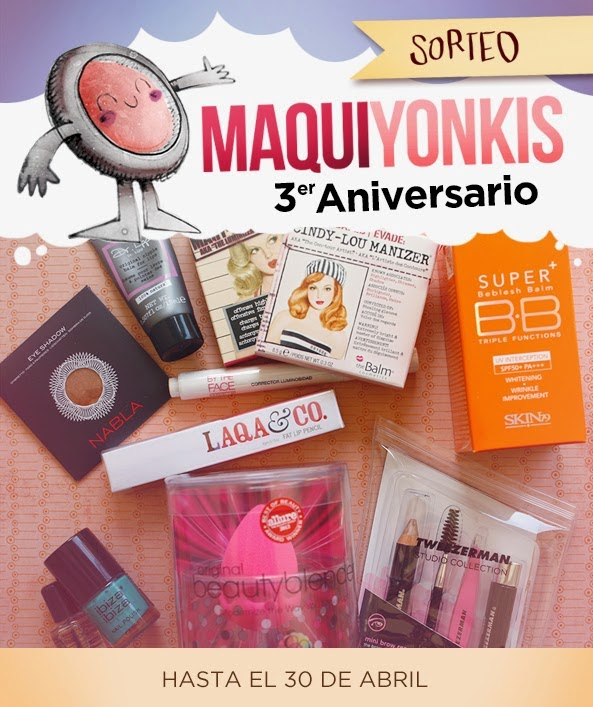 Sorteo 3º aniversario Maquiyonkis