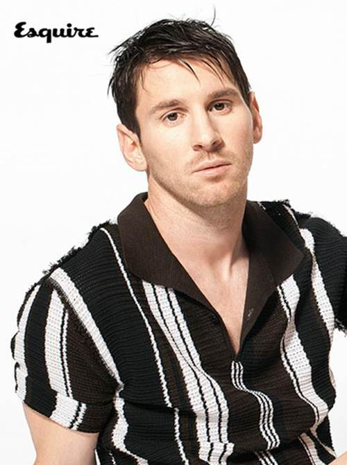 Leo Messi poses for Esquire Magazine UK March 2013