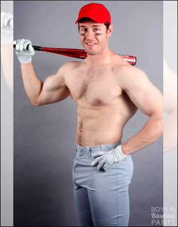 Naked Male Baseball Player