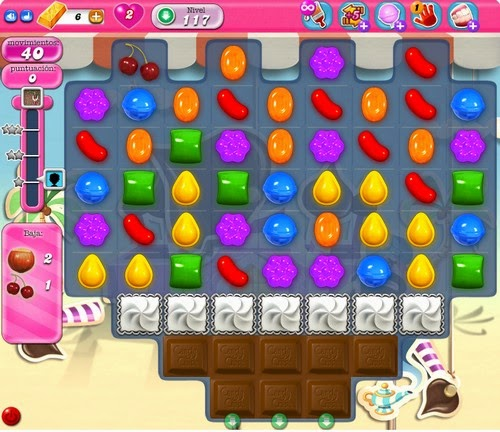 Nivel 117 de Candy Crush Saga