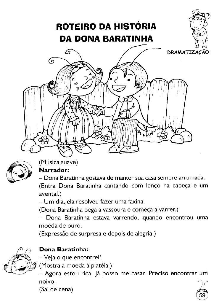 Preferência Mundinho da Criança - Alfabetização: História Dona Baratinha  YA37