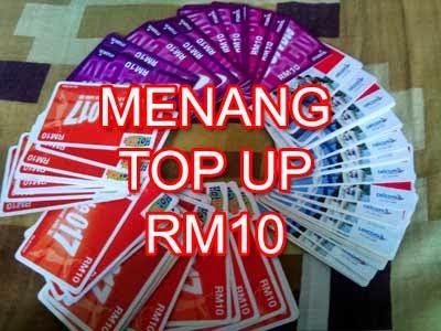 Terima Kasih Buat Blogger Dunia Zumal. Menang Top Up RM10