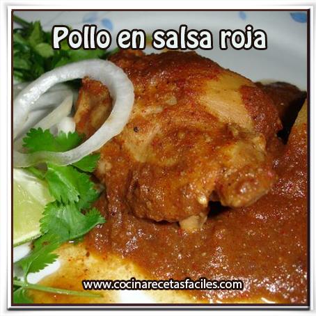 Recetas de pollo , receta pollo  en salsa roja