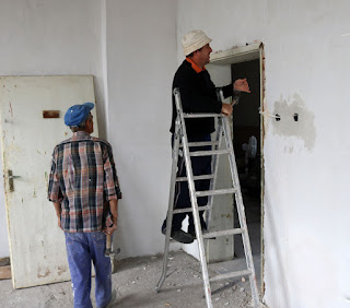 Ripping out the old doorway
