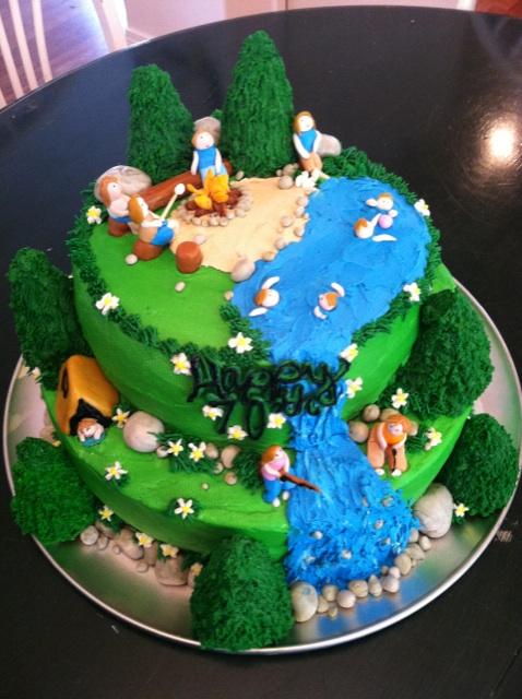 Cat S Cake Creations Camping Birthday Cake