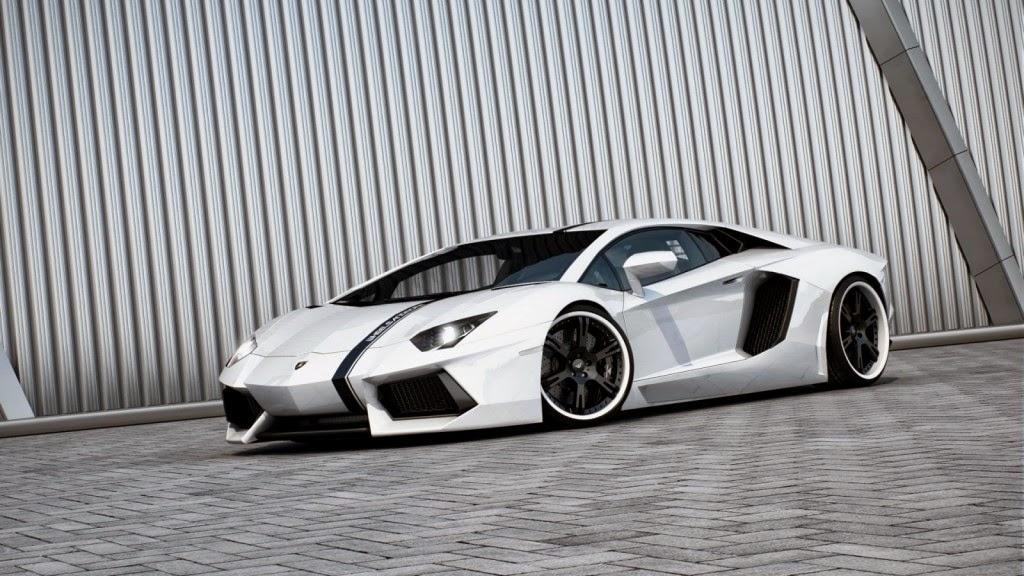 2013 White Lamborghini Aventador HD Wallpaper