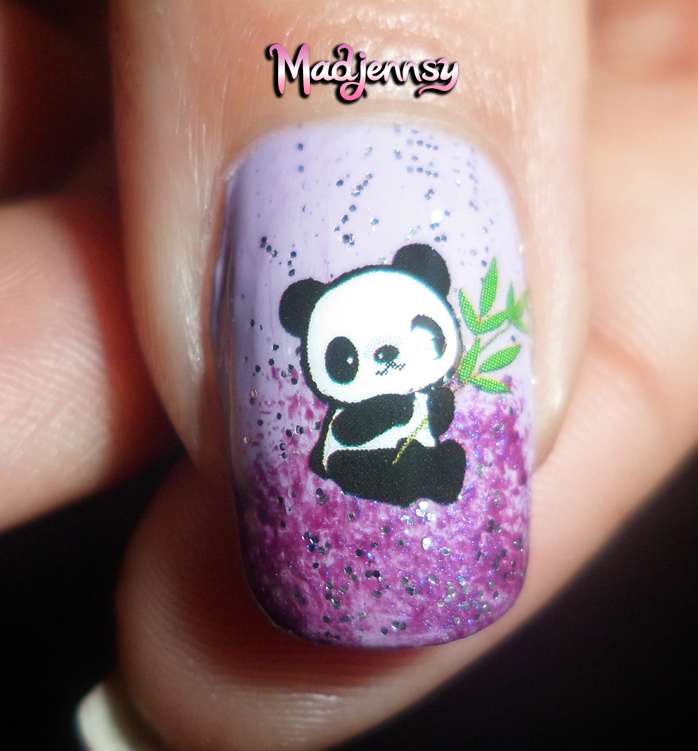 Cute panda nails bornpretty store water decal review tutorial httpbornprettystore site wide 10 off coupon mdjw10 nail water decals sticker lovely panda prinsesfo Image collections