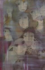 Νότα Κυμοθόη Αυτά τα πρόσωπα Ελαιογραφία σε μουσαμά