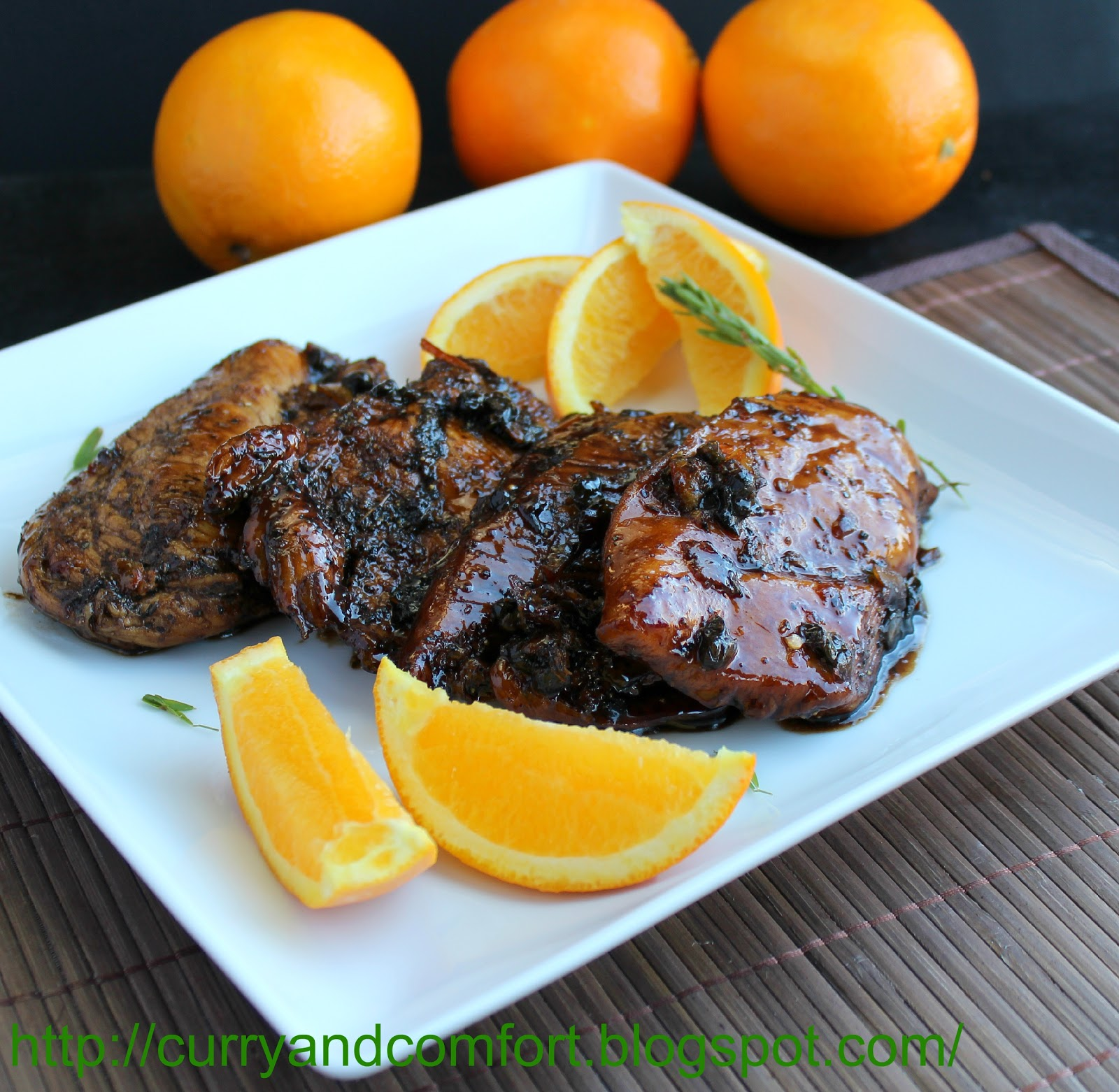Kitchen Simmer: Orange-Balsamic Glazed Chicken