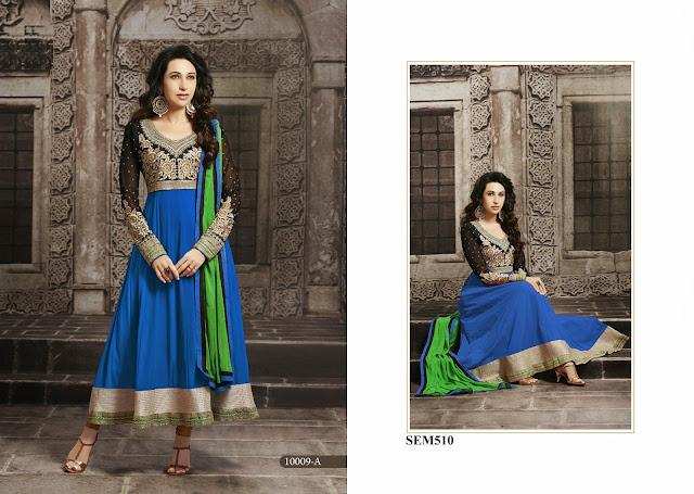 Karishma Kapoor In Embroidery Long Anarkali Suit