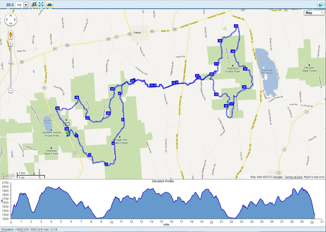 The Running Hacker Virgil Crest Mile - Map how far i ran