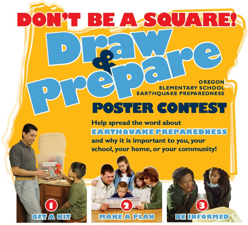 contest make a poster to show how you d prepare for earthquakes