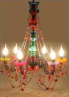 Lampara Colores Acrilica y Metal Salas, lampara cristales de colores araña