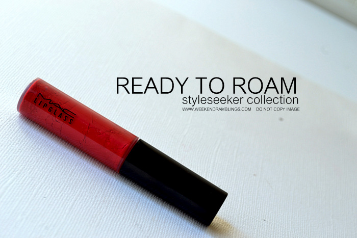MAC Ready to Roam Tinted Lipglass Indian Makeup Beauty Blog Reviews Swatches Ingredients FOTD looks Red lipgloss