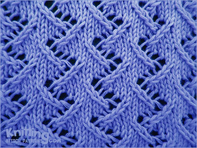 Zig Zag Knitting Stitch Pattern : Zig Zag Lace #2 Knitting Stitch Patterns