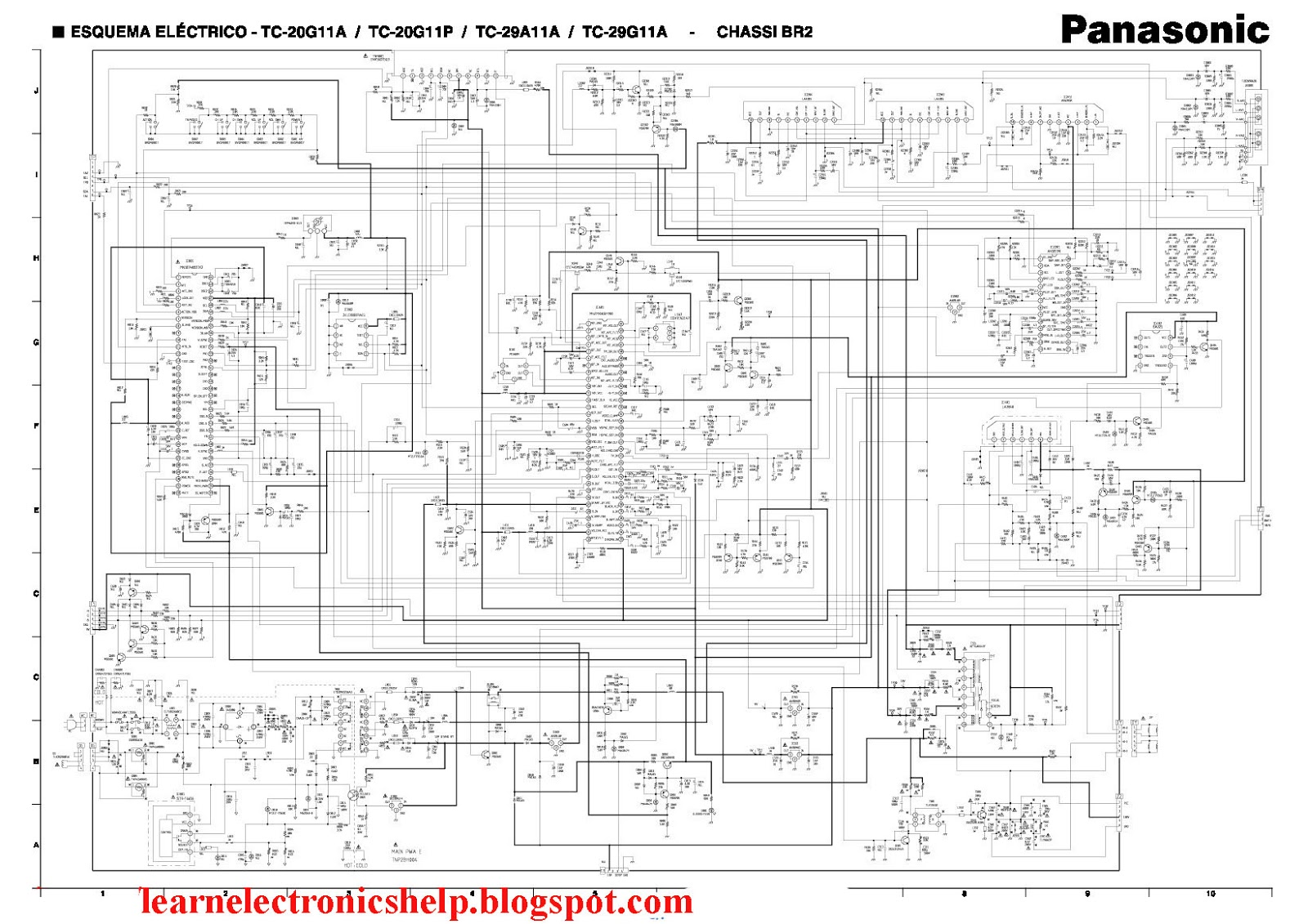 panasonic tv repair wiring diagram