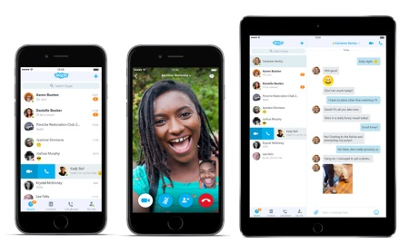 Microsoft's Skype redesigned for Android and iOS