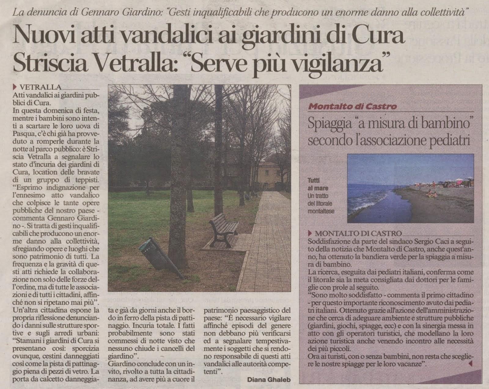 Corriere di Viterbo del 05.04.2015
