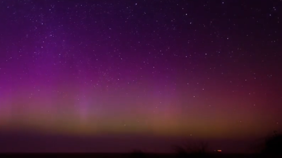 Northern lights delight Dutch in surprise showing in north and east (17 Mar 2015)