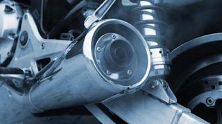 Ilustrasi knalpot sepeda motor