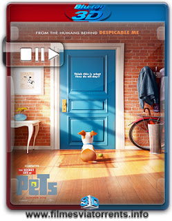 Pets: A Vida Secreta dos Bichos Torrent – BluRay Rip 1080p 3D HSBS Dual Áudio 5.1 (2016)
