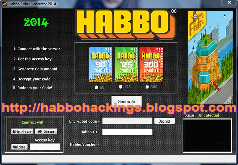 Habbo Coins Generator 2014
