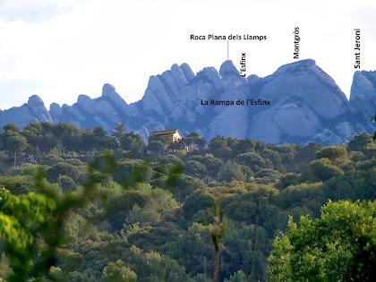Vista de la zona dels Ecos i del Montgròs des de la Costa del Matamatxos