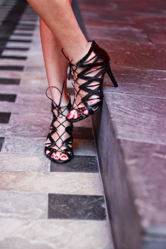 black laceup sandals wrap gladiator