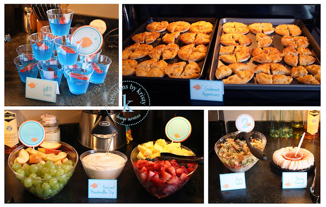Fish-themed birthday party food | kreations by kristy