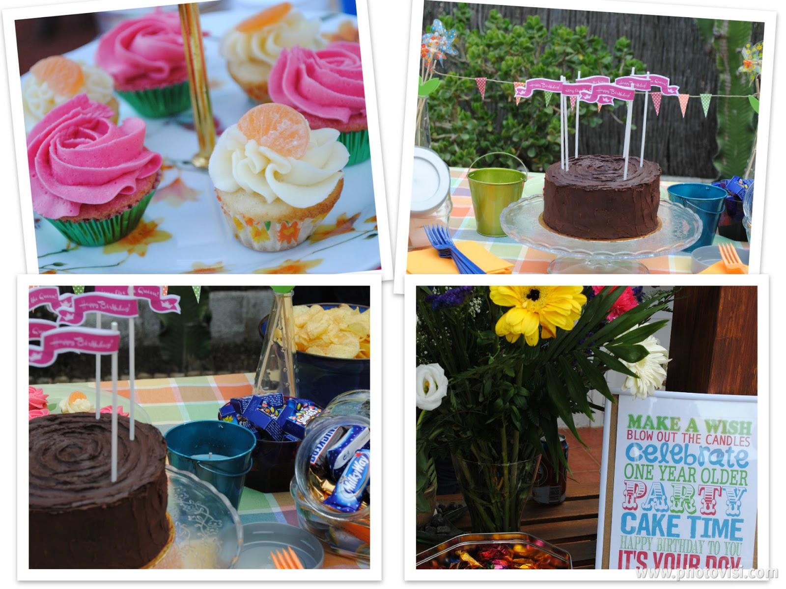 Sweet Table Cumpleaños Pam Cupcakes
