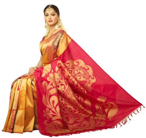 Traditional Indian silk saree