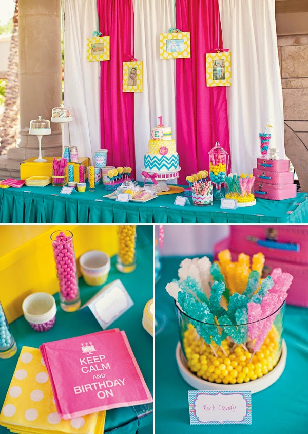 Yellow Polka Dots First Birthday Party Theme