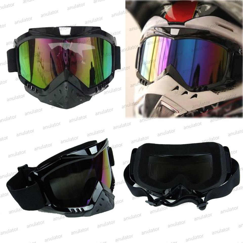 Jual Aksesoris Vespa Helm Retro Vintage Classic Masker Sarung Anti Air Kacamata Goggle Cross 05 Ys24 Visor Rainbow Pelangi