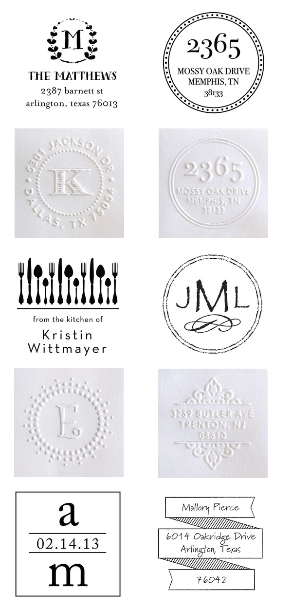 Personalized Embossers and Stamps | Tiny Prints.com