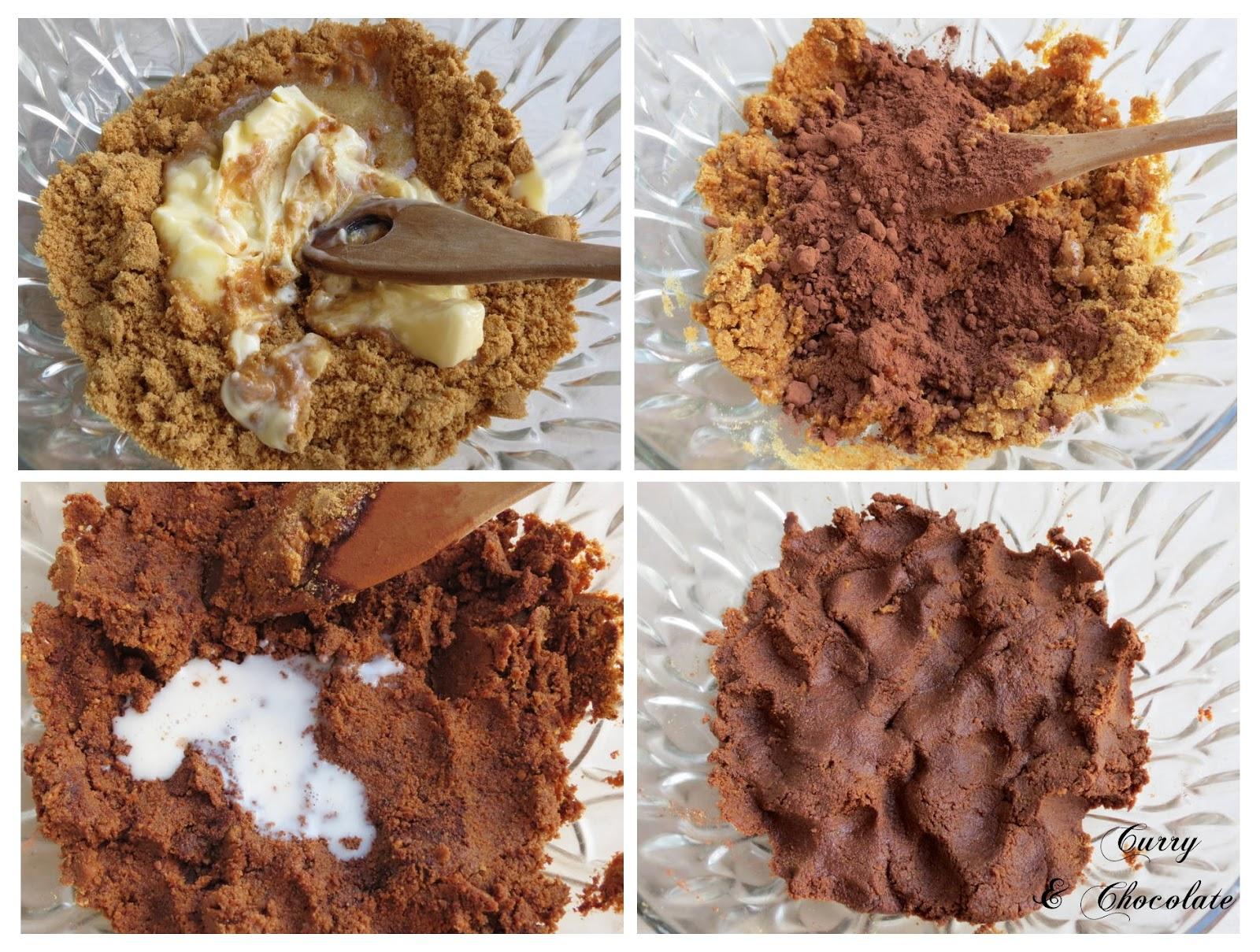 Preparando la base de galletas