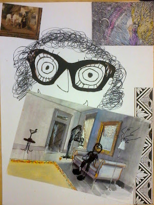 Dali art project for kids, Dali collage project